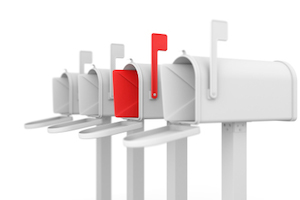 Different concept. Mailbox with envelope.
