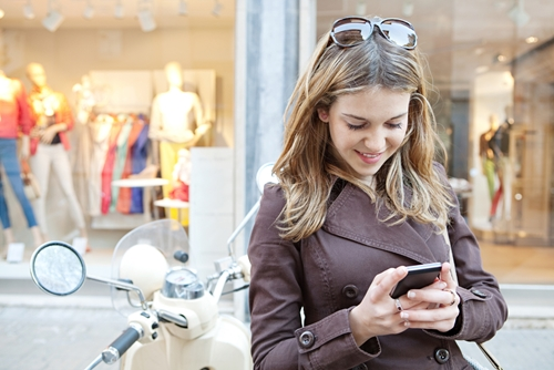 Mobile marketing can play a role in encouraging in-store purchases.
